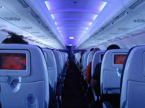 Virgin America's amazingly soothing lighting system