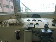 Cockpit of Train (Nishitetsu Railways) / 西鉄急行電車の運転席