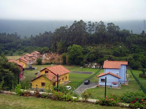 Vista desde a casa de Cuerres en Ribadesella