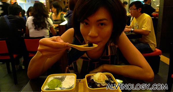 Rachel having her sweet craving satisfied