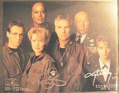 Stargate SG1 Cast Autograph