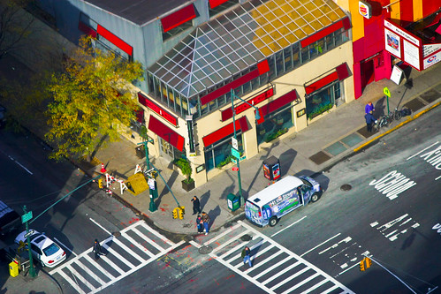 "isometric ""illustration"" of a New York City corner by Garrett LeSage."