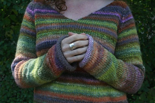 knitted :: handspun sweatshirt sweater