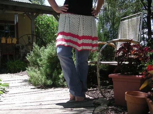 crochet apron
