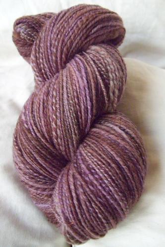 handspun purple-brown merino