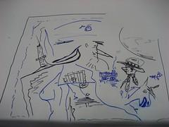 Adam West's doodles