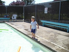 charlie at the pool
