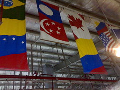 Flags of the world at Parkson Duty Free