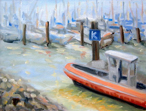 K Dock Berkeley Marina in Oils