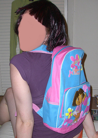 Stupid cartoon backpacks!
