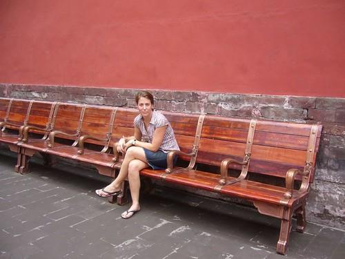 Francie at Forbidden City