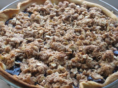 Blueberry Pie HOT out of the over