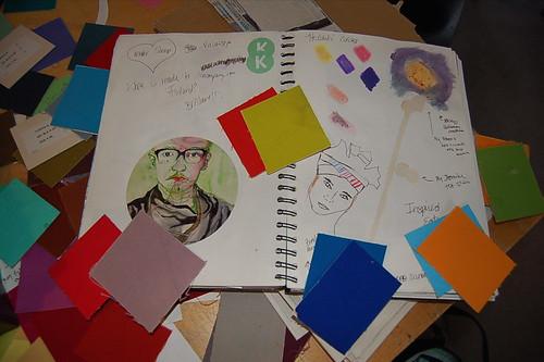 choosing colors based on sketchbook