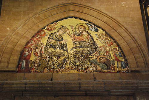 Duomo in Florence: mosaic of the coronation of the Virgin. Photograph by Jim Forest.