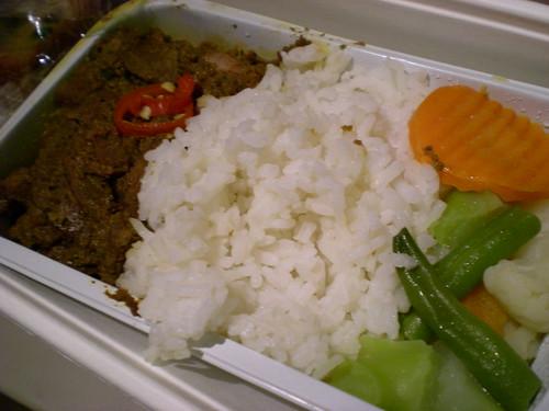 MAS inflight dinner 1