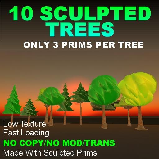 10 Sculpted Trees NoCopy