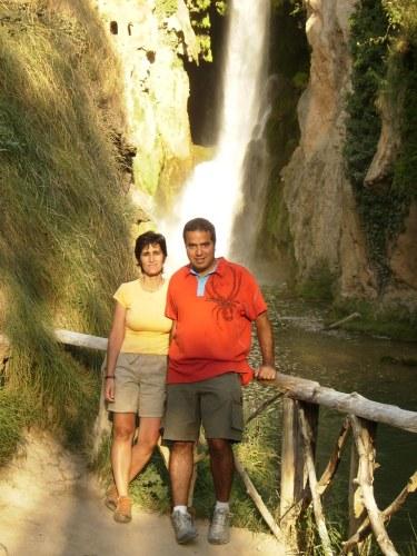 En la Cascada Cola de Caballo del Parque Natural del Monasterio de Piedra