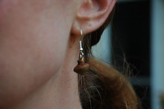 mini acorn earring