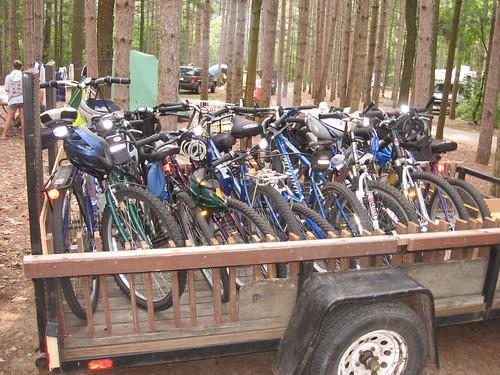 Bike Trailer at PJ Hoffmaster State Park- July 2007
