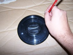 Using the telescope cover to trace the circle for a Hartmann Mask
