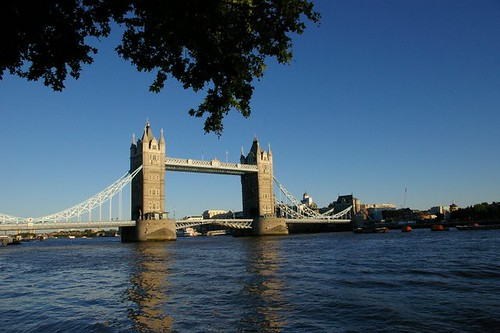 Tower Bridge high tide
