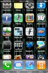 Scrolling home screen
