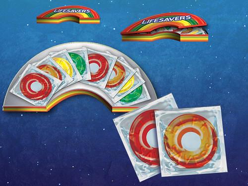 Lifesaver Condom Package Design