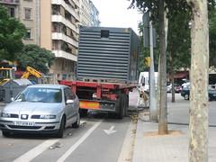 Generador al mig del carril bici