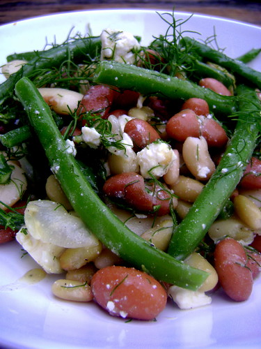 Four Bean Salad with Fennel and Goats Cheese