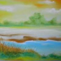 粉彩-風景畫