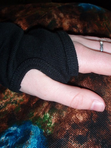 Thumb holes in sleeves