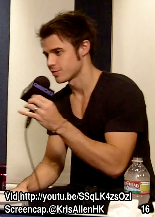 Kris Allen Billy Bush Show interview screen cap chest arms biceps sexy tee t-shirt pictures