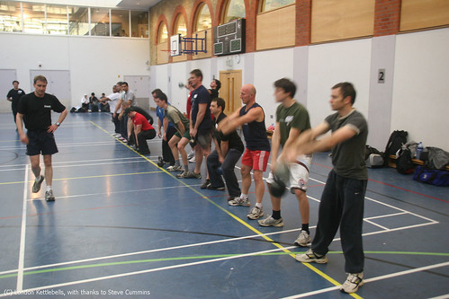 Kettlebell class in London