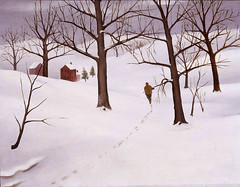 Attributed to Martha Levy: Winter Scene, 1934