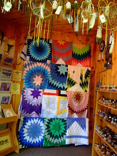 quilts at the crazy horse gift shop