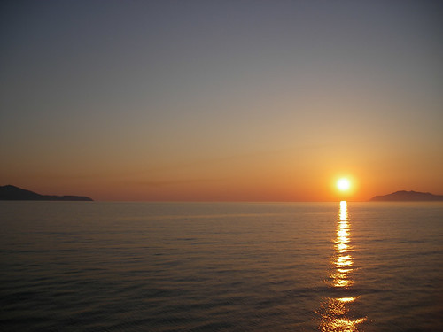 Grecia: mare Egeo al tramonto