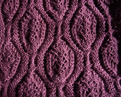 Large Lacy Cables - reverse, unblocked
