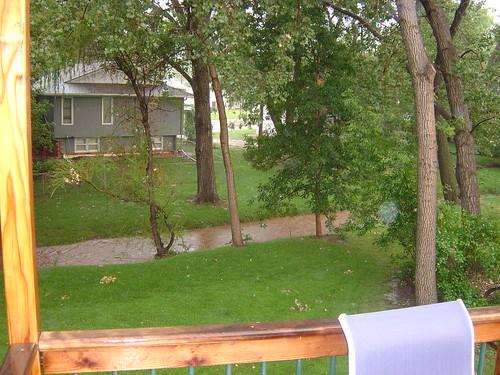 The creek is flowing!