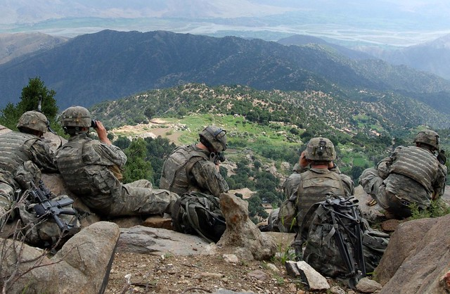 2d BN 503d IN Scouts pull overwatch above the Chowkay Valley in Kunar Province, Afghanistan