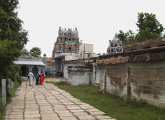 View of Rajagopuram from right side outer praharam