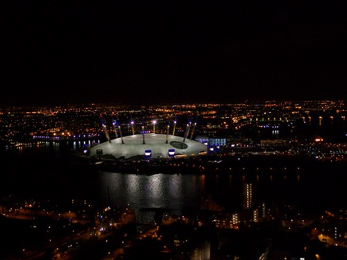 The millennium dome at night