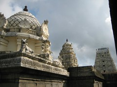 Vimanams of two main shrines with Rajagopuram