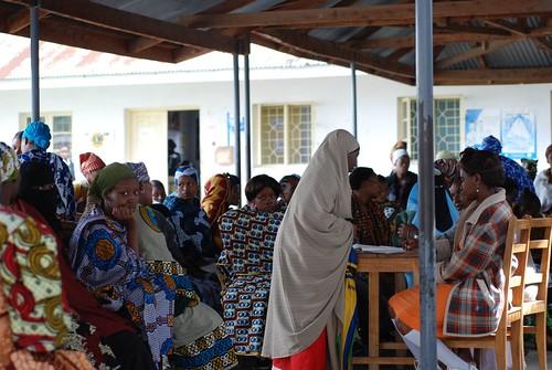 Wome's health clinic in Tanzania