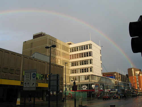 Rainbow over the Merrion Centre