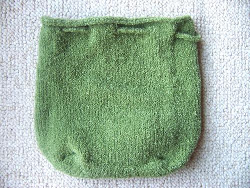 drawstring bag, flat