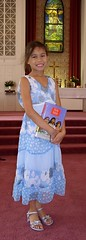 Minime's 3rd grade Bible presentation
