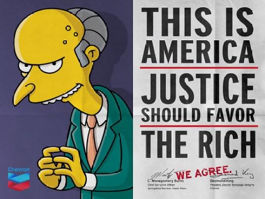 "Chevron & Mr Burns: ""We Agree"""