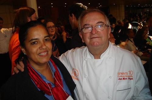 Con Juan Mari ARzak