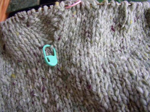 green sweater arm gusset