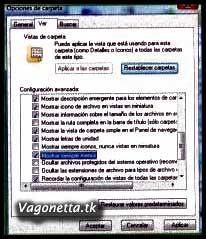 Vista-Activar menus